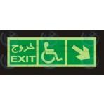 علائم ایمنی خروج معلولین راست پایین
