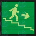 علائم ایمنی خروج پله فرار راست پایین