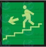 علائم ایمنی خروج پله فرار چپ پایین