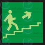 علائم ایمنی خروج پله فرار راست بالا
