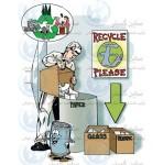 پوستر ایمنی کارتونی تفکیک زباله